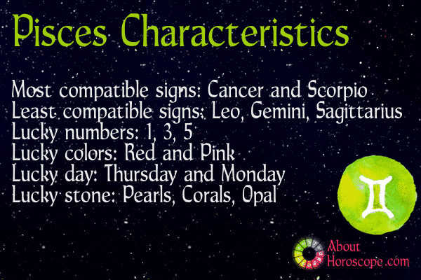Pisces traits personality and characteristics Sagittarius lucky color